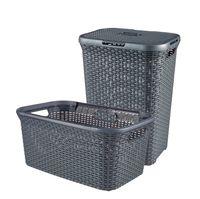 CURVER STYLE Wäschebox 60L + Wäschekorb 45L, anthrazit 246288