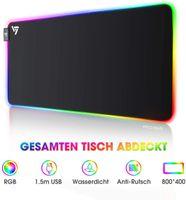RGB Mauspad, Gaming Mauspad, XXL, 12 Beleuchtungs Modi, 800x300x4 mm