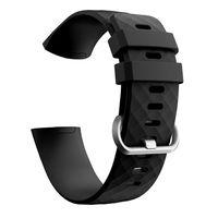 Fitbit Charge 3/4 Armband Silikon Schwarz (L)