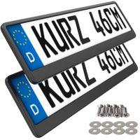 2 Kennzeichenhalter kurz 46cm Black edition Kennzeichenhalter 460mm für kurze Kennzeichen