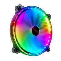 COOLMOON CR200 RGB-Lüfter Stummschaltung Großes Luftvolumen 20 cm Flüssigkeitslager Leuchtender Lüfter für PC-Gehäuse