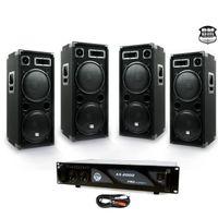 PACK PA DJ 4 Lautsprecher 4 x 600W-Verstärker 2000W