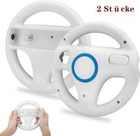 2 Stücke Wii Mario Lenkräder Wheel Controller,TechKen Wii Mario Kart Lenkrad Racing