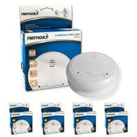 4x Nemaxx WL2 Funkrauchmelder - hochwertiger Rauchmelder Brandmelder Set Funk koppelbar vernetzt - nach DIN EN 14604