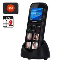 Fysic FM-50 - Benutzerfreundliches Handy für Senioren mit Fototasten und Notruftaste, schwarz