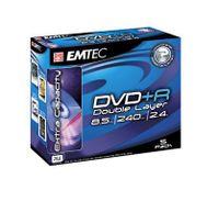 Emtec DVD+R DL 8.5GB, 8x (5), 8.5 GB, DVD+R Double Layer, 240 min, Schmuckkasten