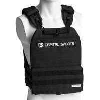 CAPITAL SPORTS Battlevest 2.0 Gewichtsweste , inklusive 4 Gewichtsplatten: 2x 5.75 lbs & 2x 8.75 lbs , hoher Tragekomfort und optimale Gewichtsverteilung durch dicke Polsterung an Schultern, antrazit