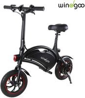 Windgoo Elektrofahrrad klappbar, ohne Pedale, E-Bike verstellbarer Sitz, kompakt tragbar, Leistung 350W Batterie 36V 6,0 Ah, Autonomie 20 km, Höchstgeschwindigkeit 20 km/h, Kreuzfahrt Modus