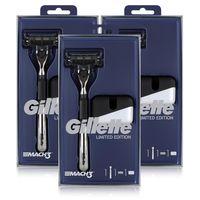 Gillette MACH3 Rasierer Limited Edition Rasierer mit Klinge & Ständer (3er Pack)