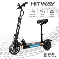 Hitway-HB24 10 Zoll Elektroscooter 800W motor 40km laufleistung E-Roller Elektroroller Faltbar e-Scooter 10H Li-Ionen-Akku für Jugendliche Und Erwachsene