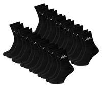 KAPPA - Sport- & Freizeit-Socken - 12er Pack (24 Stück)   Farbe: Schwarz   Größe: 39-42