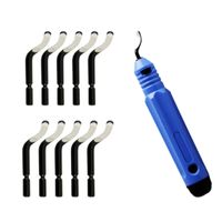 Entgrater Werkzeug Universal, Handentgrater mit 10 Stück Ersatzklingen, 360 ° Rotierender Klinge Schneidwerkzeug