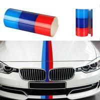 DE M-Colored Auto Streifen Stripe Flagge Aufkleber Sticker Motorhaube für BMW 2M