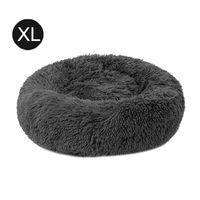 Katzenbett Hundebett Baumwolle und Samt,Dunkelgrau 70 *20 cm