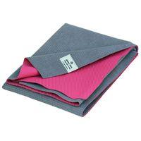 Yoga-Handtuch towel mat YATRA, Microfaser mit TPE-Beschichtung grau/pink
