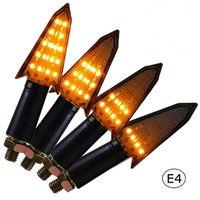 4x LED Motorrad Quad Mini Pfeil Blinker Sequentiell Lauflicht E4 E  12V
