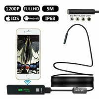 Endoskopkamera WiFi, Inspektionskamera HD 1200P mit LED-Licht Endoskop Kamera 5M USB Endoscope Inspektion Kamera für IOS Android