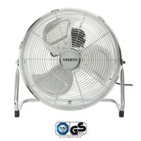 AREBOS Bodenventilator Windmaschine Luftkühler Lüfter 70W Ventilator Silber 50Hz