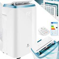 KESSER® Klimaanlage Mobil Klimagerät  4in1 kühlen, Luftentfeuchter, lüften, Ventilator - 9000 BTU/h (2.600 Watt) 2,7KW - Klima , Fernbedienung und Timer, Nachtmodul, Farbe:Weiß