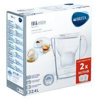 BRITA Wasserfilter Marella Cool Starterpack inkl. 2 MAXTRA+-Filterkartuschen, Weiß