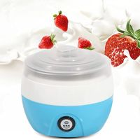 Joghurtbereiter Joghurtmaschine Joghurt Maker Haushaltsjoghurtbereiter mit Edelstahleinlage Blau(220 V / 50 Hz,1L)