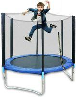 Outdoor-Trampolin-Set, Indoortrampolin,Mini Fitness Jumpin Trampolin, Kindertrampolin mit Sicherheitsnetz (183 cm, Traglast: 300 kg)