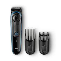 Braun Barttrimmer BT3040, Bart- und Haarschneider, Schwarz/Blau