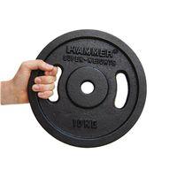 HAMMER  Hantelscheiben Gewichtsscheiben 2x 5 kg - schwarz