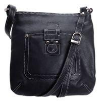 Tasche, Damen-Handtasche schwarz