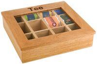 Assheuer und Pott Teebox Holz mit 12 Kammern Sichtfenster Acryl