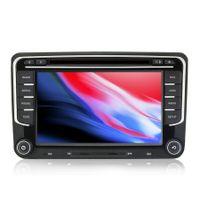 7 Zoll Wince Autoradio 2DIN für Passat Touran Golf 5 6 Skoda Seat Navi GPS  DVD USB Lenkradsteuer