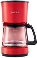 GRUNDIG KM 4620 R Harmony Kaffeemaschine rot, Farbe:Rot