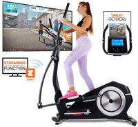 Miweba Sports Crosstrainer Heimtrainer Ergometer Cardio Fitness Trainer Stepper (Schwarz)