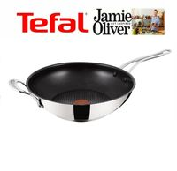 Jamie Oliver by Tefal H8038844 WOK Pfanne °30cm Induction Wave Stainless Steel