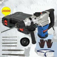 Triclicks Bohrhammer mit SDS Plus Aufnahme 2000W Abbruchhammer mit 360 °Drehgriff  3 Funktion in 1 Mehrzweck Bohrhammer