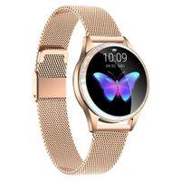 Damen SmartWatch Smartband IP68 Wasserdicht Schlafüberwachung Armband Sport Fitness für Android IOS HD IPS, Gold