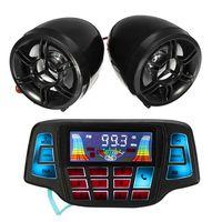 Paar Motorrad Lautsprecher bluetooth Audiosystem USB SD FM Radio Audio MP3 12V