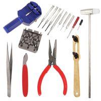16tlg Uhr Werkzeug Set Uhrmacherwerkzeug Batteriewechsel Kit Uhren Set Öffner Reparaturset Tool Uhrenarmband wechsel Gehäuseöffner