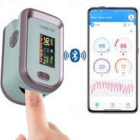 Bluetooth 4.0 Fingerspitzen-Pulsoximeter HRV SpO2 Blutsauerstoffsättigungsmonitor LEC210120111