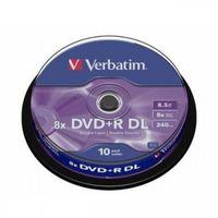 Verbatim DVD+R DL 8.5 GB 10er Spindel