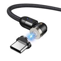 Magnetisches USB Kabel mit USB-Typ-C Adapter 2m Schnellladefunktion 9V/2A 5V/3A Fast Charge Ladekabel Datenkabel Drehbar Magnetverbindung  2m