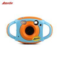 Amkov Süße digitale Videokamera max. 5 Megapixel Eingebaute Lithiumbatterie Weihnachten Neujahrsgeschenk für Kinder Kinder Jungen Mädchen