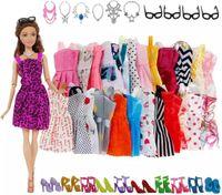 Puppenkleidung / Kleidung - Geeignet für Barbie - Set 32 Stück