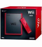 Nintendo Wii mini, Wii, Schwarz, Rot, Nunchuk