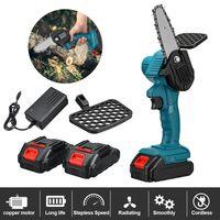 AUDEW 4 Zoll tragbare elektrische Mini-Kettensäge, 24-V-Einhand-Lithium-Elektro-Säge kabellos, zum Schneiden von Zweigen und Holz