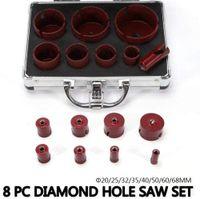 8 tlg Diamant Fliesenbohrer Bohrkronen M14 Set Glasbohrer für Winkelschleifer Fliesen Granit Feinsteinzeug Diamantbohrer