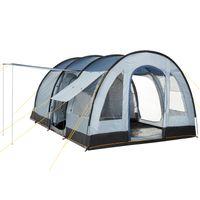 "CampFeuer Tunnelzelt ""TunnelX"" | grau / blau | Familienzelt 5000 mm"