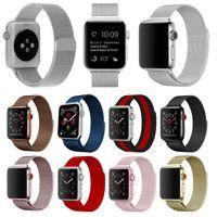 Apple Watch Premium Edelstahl Milanese Armband für Serie 1 2 3 4 5 Magnet Neu, Farbe:Black, Gehäusegrösse:42/44mm