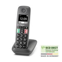 Gigaset Easy IP-Telefon schnurlos -  Senioren-Telefon zur Anbindung an alle gängigen Router - hörgerätekompatibel, anthrazit-grau, Bundle:1 Mobilteil