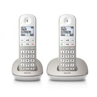 "Kabelloses Telefon Philips XL4902S/22 1,9"" 550 mAh GAP (2 pcs) Weiß"